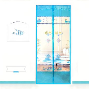 Honana WX-3 Noiseless Automatic Closing Door Curtain Magnetic Scenery Sheer Anti-mosquito Net