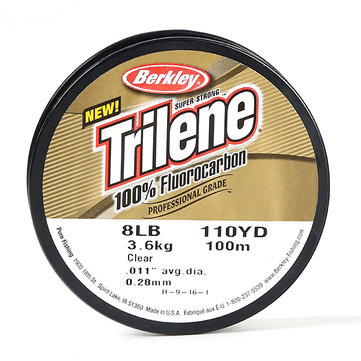 Berkley 100M Fluorocarbon Fishing Line 1.2# 3.0# 3.5# Fluoro Professional Grade Fishing Line