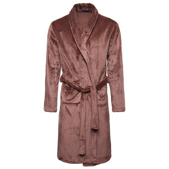 Thick Warm Coral Velvet Comfy Casual Home Long Nightgown Bath Robe Pajamas with Belt