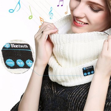 Universal Bluetooth Headset Scarf Warm Winter Knitting Music Collar Scarf for iPhone Samsung Xiaomi