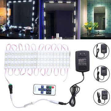 3M Waterproof SMD5630 LED White Mirror Makeup Module Strip Light + Remote Control AC110-240V