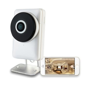 JM-106W 180 Degree Mini WiFi Panoramic IP Camera 720P Fisheye Network Audio Night Vision Camera