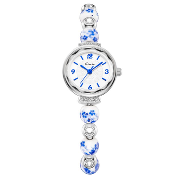 KIMIO KW6132S Fashion Women Quartz Watch Elegant Porcelain Strap Ladies Dress Watch