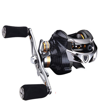 ZANLURE TAI-A113 6.3:1 18+1BB Carbon Fiber Baitcasting Fishing Reel 8KG Drag Left / Right Hand Fishing Wheel