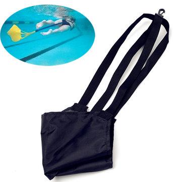 การฝึกอบรมการว่ายน้ำในน้ำลากสายคล้องผ้าใบเชือกเทรนเนอร์การว่ายน้ำต่อต้านการช่วยเหลือจ