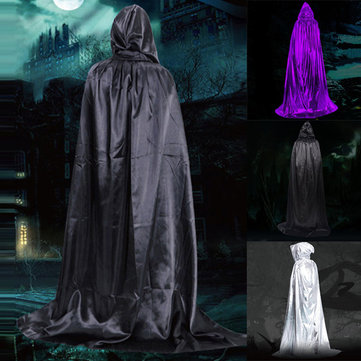 Witches Wizards Midnight Cloak Hood Sequins Cape Costume Men Tops for Halloween Decorations
