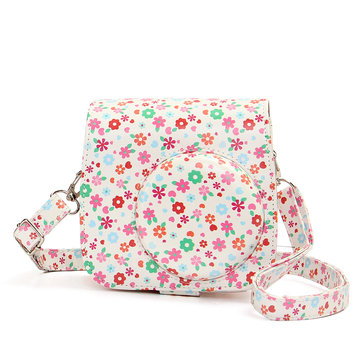 US$8.40 Flower PU Leather Camera Case Bag Fujifilm Polaroid Instax Mini8 Photography & Camera Acc from Electronics on banggood.com