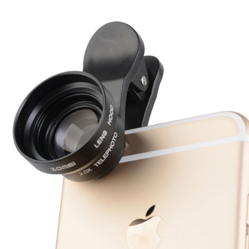 ZOMEI 17mm 0.36X Wide Angle 2x Telephoto Marco Lens with Metal Hood for Iphone Huawei HTC Xiaomi Smartphone Phone P3