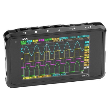 Buy MINI Nano DSO203 DS203 Professional Digital Oscilloscope 4 Channel 72MS/s for $145.55 in Banggood store