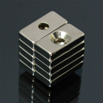 10pcs N52 20x10x4mm Strong Magnets 4mm Hole Rare Earth Neodymium Magnet