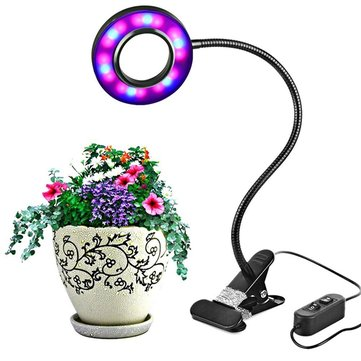 8W LED USB Indoor Clip-on Dimmable Plant Grow Light Desk Lamp DC5V