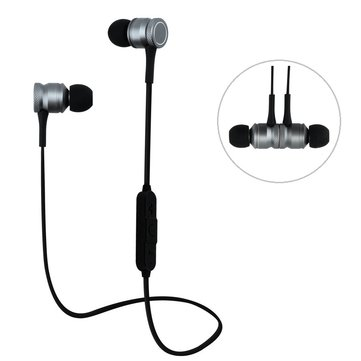 Bakeey H5 Wireless bluetooth Earphone Magnetic Adsorption Bass Headphone for iPhone Samsung Xiaomi