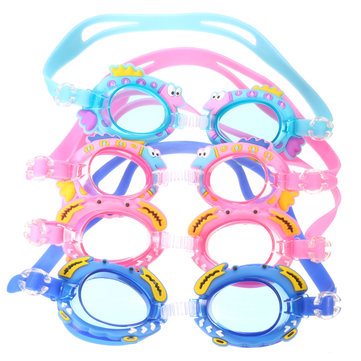 Children Kids Swim Goggles Waterproof Swimming Glasses Lovely Cartoon Style