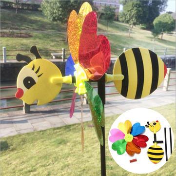 Божья коровка случайный узор насекомое ветер вертушка волчок игрушки газон двор лагеря декор Bee поделки мельница комплект