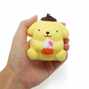 Squishy Pudding Cane 8cm Soft Slow Crescente con il telefono Tag Tag Chain Borsa Toy Decor Decorazione Cinturino