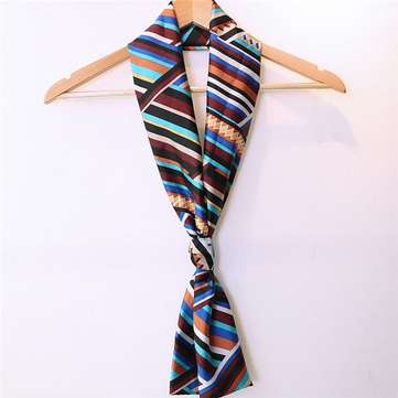 Women Lady Double Layer Chiffon Scarf Vintage Style Printing Long Elegant Scarves Towel