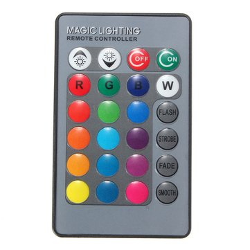 24 Keys Remote Control for RGB LED Strip Light Lamp Bulb