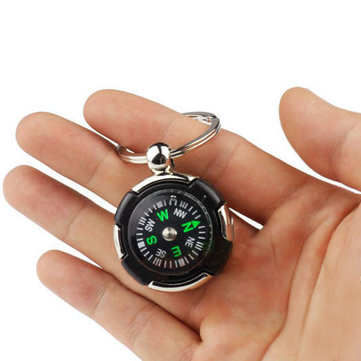 Car Key Ring Compass Key Chain Key Fob for Pointing Guid