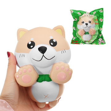 15CM Phone Strap Squishy Slow Rising Kids PU Simulation Large Angel Dog Toys Original Packaging
