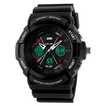 SKMEI 0966 Shock Resistant Week Date Display Sport Watch