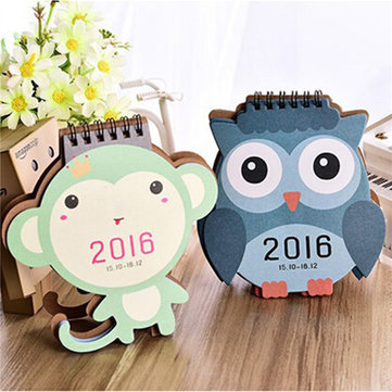 2016 Calendar Cute Animal Paper Office Daily Desktop Planner Monthly Desk Pad Calendar