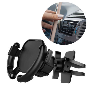 Universal 360 Degree Rotation Cable Clip Management Car Air Vent Holder for Gasbag Stand Mobile Phone