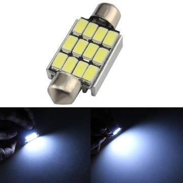 39MM 5630 12SMD Festoon Dome Map Interior LED Light Lamp BulbReading Light