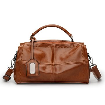 Women Quality PU Leather Boston Casual Large Capacity Handbag Shoulder Bag