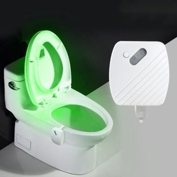 24 Colours Motion Sensor LED Night Light Toilet Light Bowl Bathroom Lamp