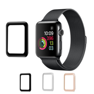 Aluminium rand 0,2 mm gehard glas Screen Protector Film voor Apple Watch Series 3 38 mm