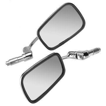 Universal Stainless Steel Retro Modified Motorcycle Mirrors Side Rear View Mirrors