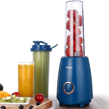 KONKA KJ-JF302 Electric Juicer Blender with Two Bottle Juice Vegetables Fruit Milkshake Mixer 300W 220V Electric Blender