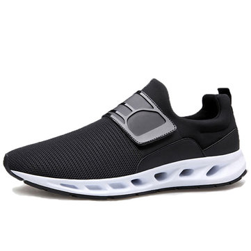 Mesh Hook Loop Breathable Soft Sole Casual Sneakers