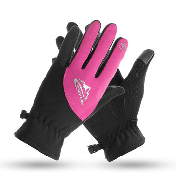 Winter Warm Thermal Windproof Waterproof Cycling Full Finger Gloves Touch Screen