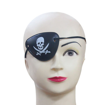 Halloween Pirate Eye Patch Costumes Pirates of The Caribbean A Masquerade Accessories Cyclops Goggle