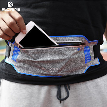 FLOVEME Waterproof Waist Bag Sports Running Phone Case Wallet Case for under 6 inches Smartphone