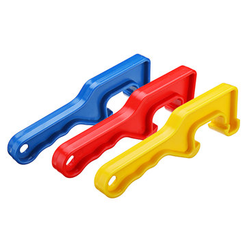 Effetool Pail Opener Plastic Gallon Bucket Paint Barrel Can Lid Opener Wrench Opening Tool Red Yellow Blue
