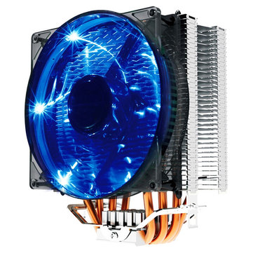 Pccooler Donghai X4 4 Pin 4 Heat Pipes Blue LED CPU Cooler Cooling Fan for Intel AMD