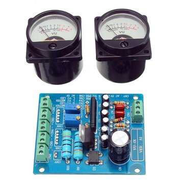 2Pcs VU Meter Warm Backlight Recording + Audio Level Amp With Driver Board