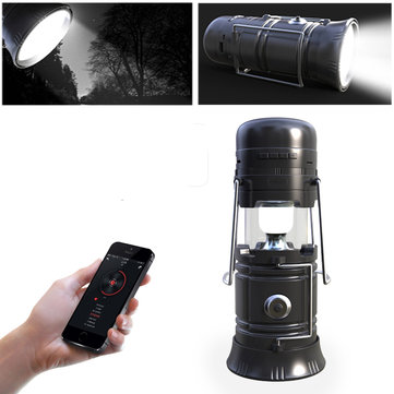 5 In 1 Retractable LED Solar Lantern Portable Emergency Light Bluetooth Music Speaker