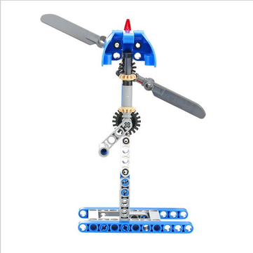 Children's Windmill Assemble Educational Construction Building Blocks Combo Bricks Hand Cranking Toy