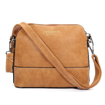 Women Nubuck Shell Bags Girls Vintage Shoulder Bags Crossbody Bags Messenger Bags