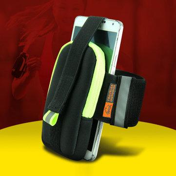 Sport in esecuzione sacchetto sacchetto polso in neoprene corsa esterna per iPhone 6 / 6s più iphone 6 / 6S samsung htc