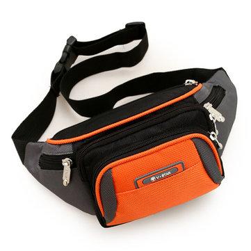 Women Multi Pockets Sports Waist Bags Men Waterproof Running Crossbody Bags