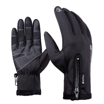 Mens Warm Touch Screen Fleece Cycling Gloves Sport Windproof Outdoors Ski Gloves