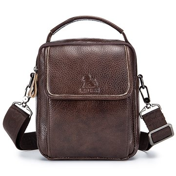 Vintage Genuine Leather Shoulder Crossbody Bag For Men