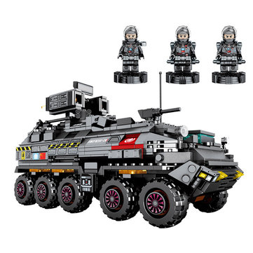 SEMBO 107005 CN171 The Wandering Earth Series Medium-Sized Personnel Carrier Assembled Blocks Toys
