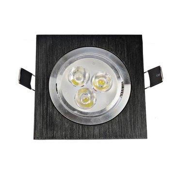 3W/5W/7W/12W One Head Black LED Square Ceiling Recessed Light Down Light 85-260V