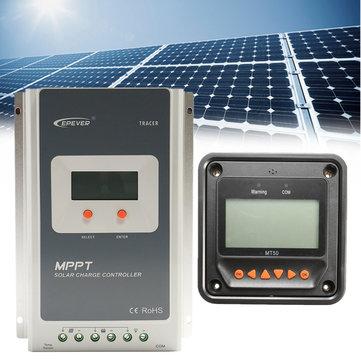 EPEVER MT50 Remote Meter + MPPT 12/24V 40A LCD Solar Charge Controller Regulator