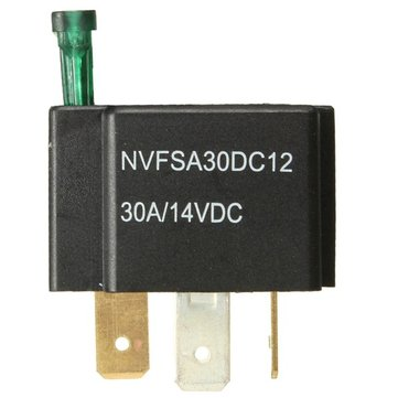 12V 30A Car 4-Pin Relay Normally Open Contacts Fused On/Off With Metal Bracket